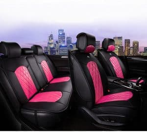 Seemehappy Charming Hot Pink and Black Seat Covers: The Pink Cover