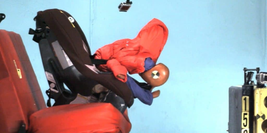 winter coats and car seats