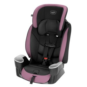 Evenflo Maestro Sport Harness Booster Car Seat In Whitney - Installed Via LATCH
