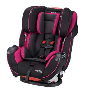 Evenflo Symphony Elite All-in-One Car Seat in Raspberry Sorbet - Top Rated