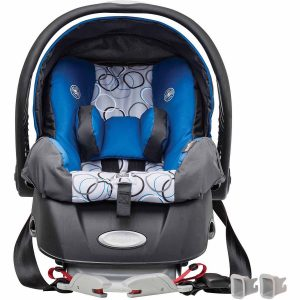 The Evenflo Embrace Select Infant Car Seat in Blossom - With Extendable Canopy