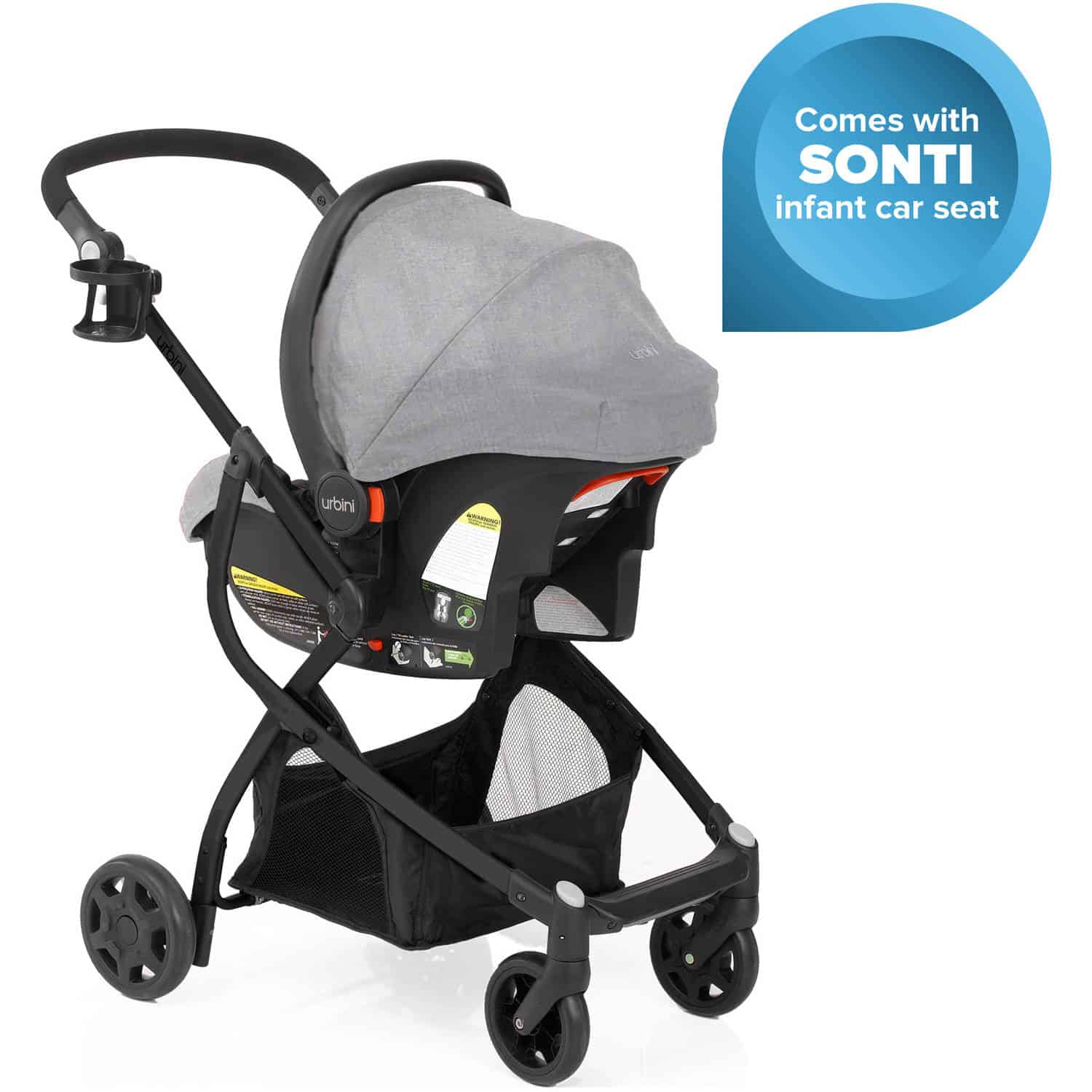 The Urbini Omni Plus 3-in-1 Travel System